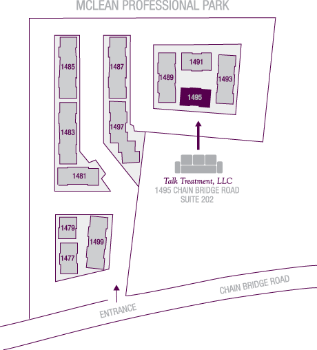 Map of new office location